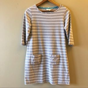 Boden striped casual pocket 3/4 sleeve tee dress